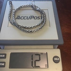 Jewelry - .925 Sterling Silver Bali popcorn chain necklace